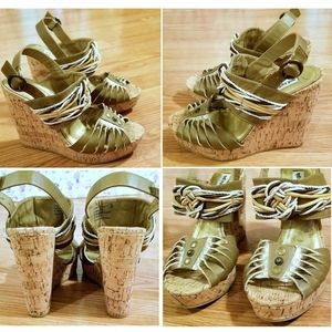 NOT RATED Cork Wedge Sandals